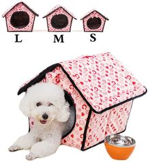 Saymequeen Lovely Heart-shaped Pattern Indoor Dog House Cat Cave Bed Puppy Kitten Play Room Bed cat Cave *** Remarkable product available now. : Cat Tree and Tower