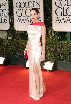 Angelina Jolie at #goldenglobes 2012