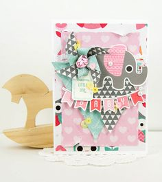 'Sweet Dreams Little One' by Alena Grinchuk for Kaisercraft using 'Little One' Collection - Wendy Schultz ~ Baby Cards.