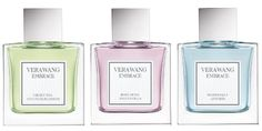 Vera Wang Embrace collection | Green Tea and Pear Blossom, Rose Buds and Vanilla,  Periwinkle and Iris