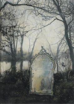 my-soul-of-glass:  Mirror, Mirror (by Balsamo) | Strange. Surreal. Stuff of dreams. on We Heart It.