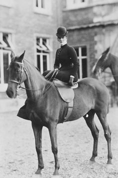 The Princess of Wales (1844-1925), later Queen Alexandra, on horseback, c. 1886 | Royal Collection Trust