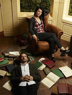 Elementary  Johnny Lee Miller and Lucy Liu as Holm