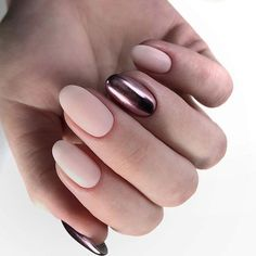50 Trendy Nail Art Designs to Inspire Your Fall Mood,Females always want to seem excellent on any year, despite of the chilly winter. Fall nails concepts are specifically what Blue Nails, Matte Nails, My Nails, Fall Nails, New Nail Designs, Acrylic Nail Designs, Acrylic Gel, Uñas Fashion, Trendy Nail Art