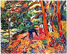 Maurice de Vlaminck was a French painter. Along with André Derain and Henri Matisse he is considered one of the principal figures in the Fauve movement, a group of modern artists who from 1904 to 1908 were united in their use of intense colour.