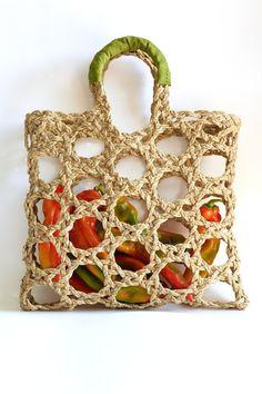 Crochet Market Bag, Crochet Tote, Crochet Purses, Love Crochet, Diy Crochet, Ethno Style, Macrame Bag, Filets, Knitted Bags