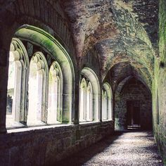 Inspiration for the cloister in the old castle, where Stiles first saw Lydia