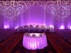 C: Projected Gobo lights They create an arch. Rasika do you like something like this