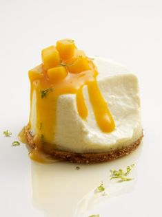 cheesecake coulis de mangue