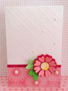 Crafting ideas from Sizzix UK: Clean and simple flower card with the Starter Kit