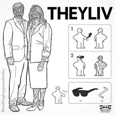 IKEA Instructions for Horror Fans - They Live by Ed Harrington