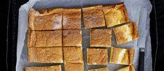 Taikapannarin taikinasta muodostuu paistamisen aikana kolme kerrosta: pannukakkumainen pohjakerros, vanukasmainen välikerros ja kuohkea päälliskerros. N. 0,10€/annos. Waffles, Deserts, Food And Drink, Cookies, Breakfast, Tarts, Foods, Fun, Crack Crackers