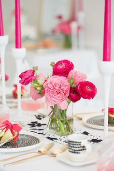 Black, white and pink party ideas | Real Weddings and Parties | 100 Layer Cake