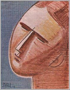 Mario Tozzi 1964: Testa Ovoidale. Olio su Tela cm.36x27 - Collezione Privata Cannobio VB - Archivio n.1659 - Catalogo Generale Dipinti n.64/23.