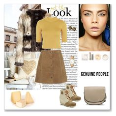 """""""Genuine People Faux Fur Coats Outfits - 2"""" by ludmyla-stoyan ❤ liked on Polyvore featuring Korres, Ciao Bella, SOREL, Kate Spade, genuinepeople and Genuine_People"""