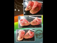 free crochet baby sandals patterns - YouTube