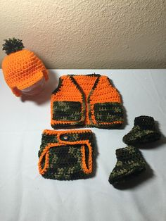 Hey, I found this really awesome Etsy listing at https://www.etsy.com/listing/260222458/crochet-nb-through-12-mos-baby-hunting