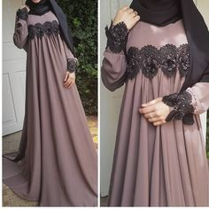 Image may contain: one or more people Hijab Prom Dress, Hijab Style Dress, Hijab Wedding Dresses, Muslim Dress, Modest Dresses, Maternity Dresses, Nice Dresses, Girls Dresses, Dress Up