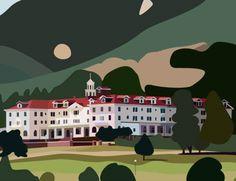 Stanley Hotel Vector by alphathewolf