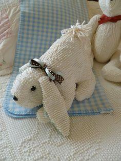 bunny! vintage hobnail chenille