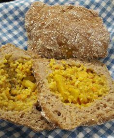 Kaurasämpylät kasvistäytteellä (gluteeniton) Grains, Rice, Food, Essen, Meals, Seeds, Yemek, Laughter, Jim Rice
