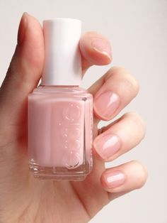 Essie Sugar Daddy. I seriously get more compliments on this color than any of my others. Barely there but just pink enough.