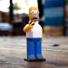 Homer ! #leblox #pixelart #3Dprinting #tribute #fanart #Homer #TheSimpsons #Simpsons