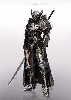 """Cavaleiro """"Asa de Horus""""."""