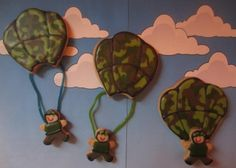 ♥Cookies I made♥  Army Parachuting Cookies By my2sunshines on CakeCentral.com