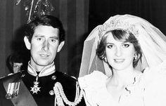 Prince Charles and the Princess of Wales waiting for their wedding portrait