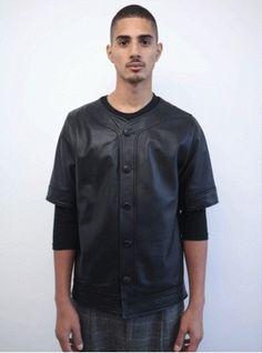 Clothsuregon Full Nappa Leather Baseball Jersey