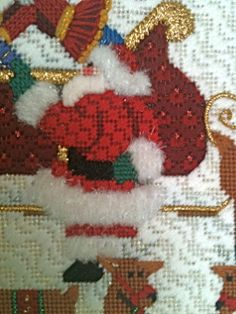 steph's stitching: This is the way to Amy's House Needlepoint Designs, Needlepoint Stitches, Needlepoint Canvases, Needlework, Santa Cross Stitch, Needlepoint Christmas Stockings, Lace Making, Rug Hooking, Stitching