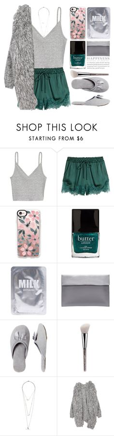 """Untitled #1107"" by andreiasilva07 ❤ liked on Polyvore featuring H&M, Casetify, Butter London, Lapcos and Dearfoams"