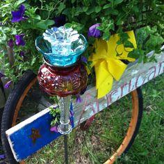 My Upcycled garden art