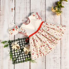 Baby Dress - Summer Funny Vibes Red Details & Bio Materials AnneBebe Brand - Made with Love in Romania Funny Prints, Dress Summer, Romania, Baby Dress, Girls Dresses, Red, Collection, Fashion, Dresses Of Girls