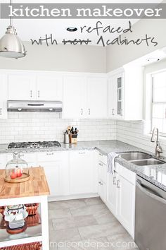 Awesome budget idea - how to reface cabinets | maisondepax.com