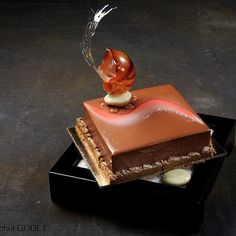 Another stunning piece of edible art. This is the Chinese Chocolate dessert from the 2009 Pastry World Cup, photo by Michel Godet