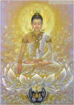 """""""I am submerged in eternal light. It permeates every particle of my being. I am living in that light."""" —Yogananda  (Artist: JitdraThanee) ..*"""