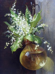 Unknown Artist. Oil Painting Lily of the Valley