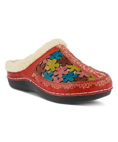 This Red Woodbine Leather Clog is perfect! #zulilyfinds