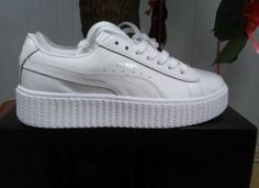 Puma Rihanna X Creepers Casual Shoes Leather All White Silver | creepers
