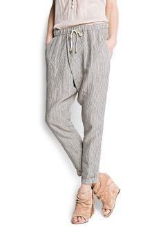 Gestreifte Baggy Pants
