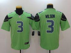 174d1354f NFL Men's Seattle Seahawks #3 Russell Wilson Green Jersey Football Jerseys