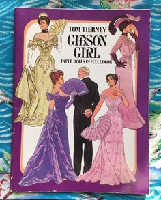 Vintage Gibson Girl Paper Dolls by Tom Tierney | 1980s Dover Book by blindcatvintage on Etsy https://www.etsy.com/listing/599562021/vintage-gibson-girl-paper-dolls-by-tom