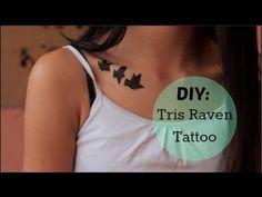 tris prior costumes dauntless temporary tattoo | DIY Divergent Tris Raven Tattoo (obvi temporary lol) ♡