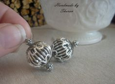 Vintage Silver Filigree Wire Wrapped Pendant by LesBourgeoisBijou, $8.00