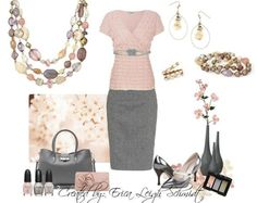 Pink and gray . . . Classic neutral. Premier Designs Desert Rose.