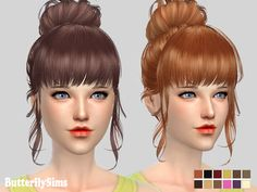 Butterflysims: Hairstyle 153 - Sims 4 Hairs - http://sims4hairs.com/butterflysims-hairstyle-153/