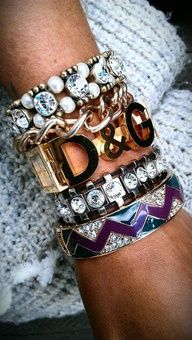Rank & Style #ArmParty #TopTen #Bracelets  Love!