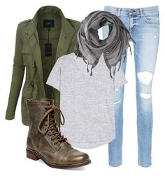 Pacific Northwest Typical Outfit by upperlftculture on Polyvore featuring rag & bone, LE3NO, rag & bone/JEAN, Steve Madden and Love Quotes Scarves